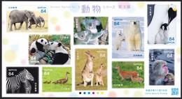 (ja1494) Japan 2020 Animal Series No.3 84y MNH Elephant Panda Zebra Duck Koala Kangaroo Polar Bear Deer Penguin Monkey - Nuevos