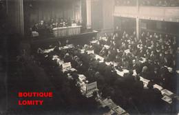 & Politique Cpa Carte Photo 19e Congrès National SFIO à Paris Société Française Internationale Ouvriere - Political Parties & Elections