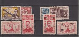 Indochine  N°274/277 - 284/285 - 293/293 - Unused Stamps