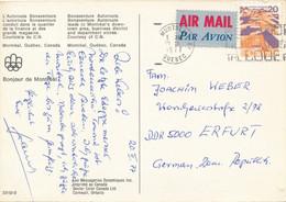 Kanada Montreal TGST 1977 PK Olympische Spiele 1976 Luftpost - Label  - Postkarte Nach DDR - Cartas