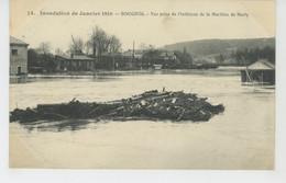 BOUGIVAL - Inondation De Janvier 1910 - Vue Prise De L'intérieur De La Machine De MARLY - Bougival