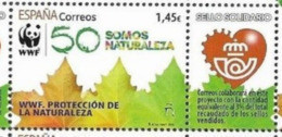 SPAIN, 2020, MNH, CHARITY STAMP, WWF, NATURE PROTECTION, LEAVES, 1v+TAB - Sonstige