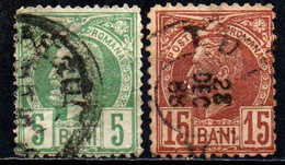 ROMANIA - 1885 - EFFIGIE DEL RE CARLO I - USATI - Gebraucht