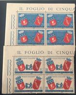 1959 - Italia - Gemellaggio Roma Parigi - Lire 15 + Lire 25 - 1946-60: Mint/hinged