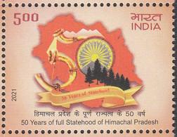 INDIA 2021, 50 Years Of   Statehood Of Himachal Pradesh 1v MNH(**) - Nuevos