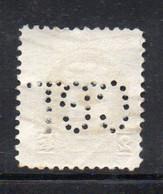 XP281 - BELGIO , 2 Franchi Usato : PERFIN PERFINS - Non Classés