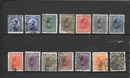 Jugoslavija Yougoslavia 14 VALORI  Usati 1925/1926 Lot Lotto - Unused Stamps