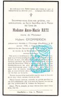 DP Anne Marie Ratz ° 1854 † L' Ermitage Houffalize Janv. 1945 X Hubert Grommersch /  Bataille Des Ardennes - Devotion Images