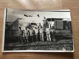 Carte Photo D'un Train Blindé Français Avec Mitrailleuse Certainement En Syrie Années 20-30 - Documents