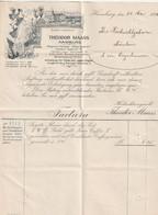 Theodor Maas Hamburg - 1901 - Zier-Rechnungsbriefbogen (1/082) - 1900 – 1949