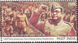 INDIA 2021, Netaji Subhash Chandra Bose 125th Birth Anniversary1v , MNH(**) - Nuevos
