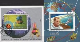 Landefähre Apollo 11 Ajman Blocks 142+328 O 9€ Memorian Tod White 1969 Hojas Blocs NASA M/s Space Sheets S/s Bf VAE - USA