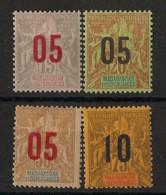 Madagascar - 1912 - N°Yv. 111 à 114 - Série Complète - Neuf * / MH VF - Nuevos