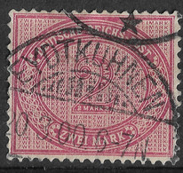 Germany 1875-99, 2 Mark Carmine Lilac. Mi 37f/Sc 36e. Nice Eydtkuhnen Postmark/Now Chernyshevskoye, Kaliningrad Russia. - Gebruikt