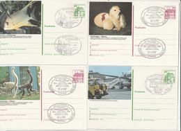 """Bundesrepublik Deutschland - 1980 Ff. - 4 Bildpostkarten """"STUTTGART"""" Je Mit Bildgleichem Stempel (1/096) - Postales Ilustrados - Usados"""