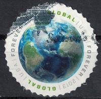 ETATS UNIS Oblitéré Used Stamp Earth Global Forever USA 2013 Timbre Rond - Usados