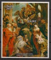 Zaire - 1977 - Bloc Feuillet N°Yv. 1 - Noel / Rubens - Neuf Luxe ** / MNH / Postfrisch - 1971-79: Mint/hinged