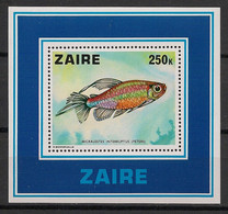 Zaire - 1978 - Bloc Feuillet N°Yv. 2 - Poisson - Neuf Luxe ** / MNH / Postfrisch - 1971-79: Mint/hinged