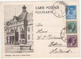 Luxembourg Carte Entier Postal N°111 Dudelange. Repères De Coupe à Gauche Haut Et Bas - Interi Postali