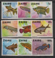 Zaire - 1978 - N°Yv. 900 à 908 - Poissons / Fishes - Neuf Luxe ** / MNH / Postfrisch - 1971-79: Mint/hinged