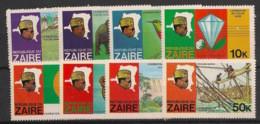 Zaire - 1978 - N°Yv. 926 à 933 - Fleuve Zaire - Neuf Luxe ** / MNH / Postfrisch - 1971-79: Mint/hinged
