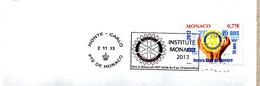 Flamme Monaco Concordante Vers Le ROTARY Du XXIe Siècle Du 5 Au 10 Novembre 2013 - Postmarks