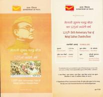 INDIA 2021, Netaji Subhash Chandra Bose 125th Birth Anniversary, 6 Side BROCHURE With His Lifetime Journey - Cartas