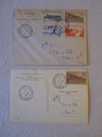Lot Y&T 780 Sur CP - 780-781-782-783 Sur Enveloppe Congrès Postal Universel 7 Mai 1947 Paris CP Notre Dame, Chimères - Cartas