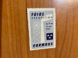 Vignette - Foire Exposition Carmaux 1952 - Tourisme (Vignettes)