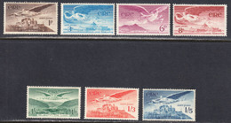 Ireland 1948 Air Mail, Mint No Hinge/mounted, See Notes, Sc# C1-C7, SG 140-143a - Airmail
