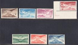 Ireland 1948 Air Mail, Mint No Hinge, Sc# C1-C7, SG 140-143a - Airmail