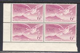 Ireland 1948 Air Mail, Mint No Hinge, Corner Block, Sc# C3, SG 142 - Airmail