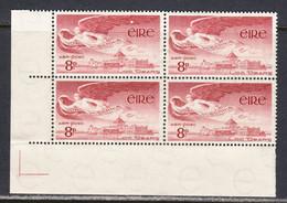 Ireland 1948 Air Mail, Mint No Hinge, Corner Block, Sc# C4, SG 142a - Airmail