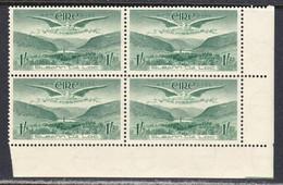 Ireland 1948 Air Mail, Mint No Hinge, Corner Block, Sc# C5, SG 143 - Airmail