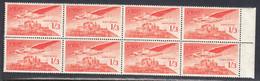 Ireland 1948 Air Mail, Mint No Hinge, Strip Of 8, Sc# C6, SG 143a - Airmail