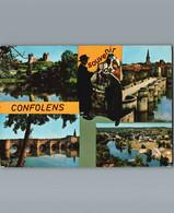 16 - Charente - Confolens - Cpm Multivues 4 Et Couple En Tenue Traditionnelle - Confolens