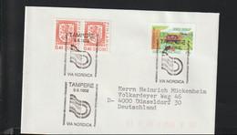Finland Cover 1992 Tampere Via Nordica (G125-29) - Cartas