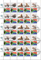 South Africa - 1996 Big Five Uncut Booklet Sheet Used (1996.11.28) (**) # SG 821c-g - Hojas Bloque