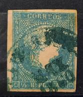 Antillas N7( Fechados Azul - Cuba (1874-1898)