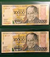 2x 20000 Bolívares 15.08.2001 // A // Casa De La Moneda - Venezuela - Venezuela