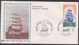"FDC "" PAC # FRANCE-1972 # (N°Yvert 1717 ) Voilier,Segelschiff,sailing Ship ""Terre-Nevas"",obl. Ill .Dinard - 1970-1979"
