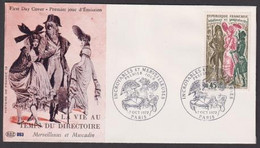 """FDC """" Editions PAC"""" -FRANCE-1972 # (N°Yvert 1729) # Histoire De France , Incroyables & Merveilleuses # Paris - 1970-1979"""