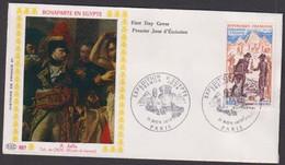 """FDC """" Editions PAC  """"-FRANCE-1972 # (N°Yvert 1731) # Histoire De France ,Expédition D' Éygpte  # Paris - 1970-1979"""