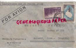 ARGENTINE- LETTRE AVION RODOLFO TARANTOLA -BDO DE IRIGOYEN 1248- BUENOS AIRES-A RICARDO FAYOS MAZAMET TARN 81- 1937 - Briefe U. Dokumente
