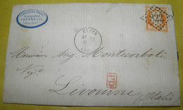1873  COMMERCIAL  LETTER  GO FROM  CETTE ( FRANCE) TO  LIVORNO / LETTERA COMMERCIALE  DA CETTE ( FRANCIA ) PER LIVORNO - 1870 Siège De Paris