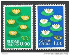 Finlande 1977 N°767/768 Norden Nénuphars - Nuevos
