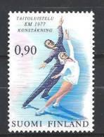 Finlande 1977 N°766 Sport Patinage Artistique - Nuevos