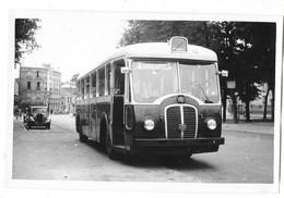 PARIS ? Photographie Format Cpa Autobus Service Spécial Gros Plan Vers 1950 - Buses & Coaches