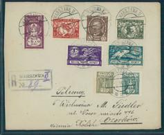 POLAND, REGISTERED-COVER 1919 SET PARLIAMENT, NICE PATRIOTIC-PHILATELIC FRANKING - Briefe U. Dokumente