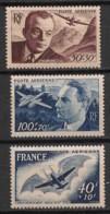 France - 1947-48 - Poste Aérienne PA N°Yv. 21 à 23 - 3 Valeurs - Neuf Luxe ** / MNH / Postfrisch - 1927-1959 Postfris